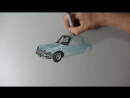 Drawing the Mirth-Mobile, Waynes World AMC Pacer - Be Street Retro Movie Art