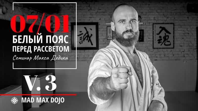 МАКС ДЕДИК | СЕМИНАР 7 ЯНВАРЯ 2019 | БЕЛЫЙ ПОЯС | V.3