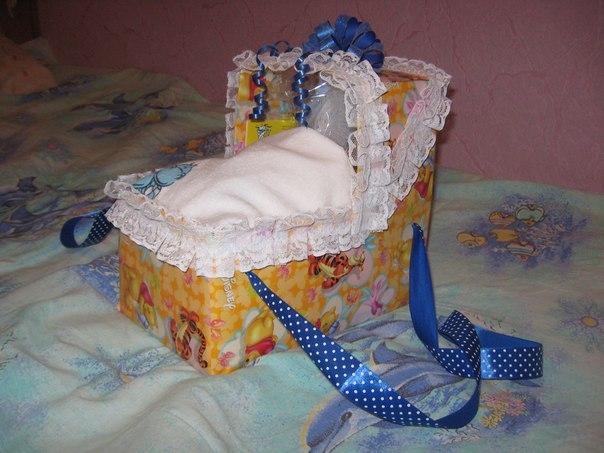 Как сделать коляску в подарок