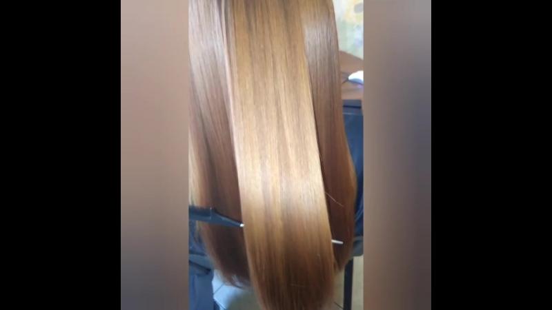 Ботокс на шикарные рыжие волосы