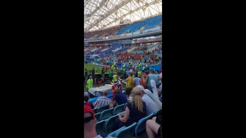 Стадион Фишт . Бельгия - Панама ЧМ 2018