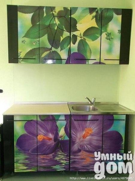 Переделываем старую кухню на новую при помощи обычных ФОТООБОЕВ!  #Декор@smart_home