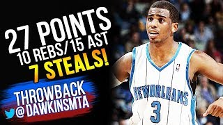 The Game YOUNG Chris Paul Was 3 Stls away From a QUADRUPLE-DOUBLE 2009.01.26 vs 76ers!