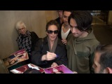Diane Lane signs for fans at Good Morning America in New York City