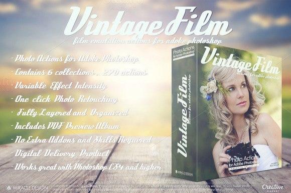 Preset Vintage Film for lightroom