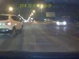 Неожиданно выскочил Дтп 1.02.14г. (см с 0:55)  г. Тольятти