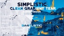 PS Tutorial Simplistic Clean Gradient Tear Banner Design