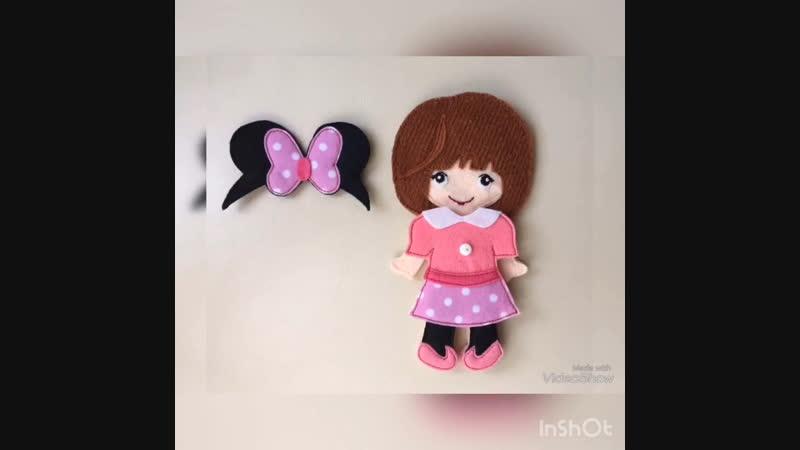 Одень куклу из фетра