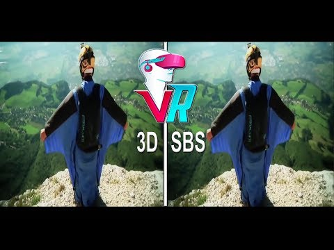 3D Wingsuit Proximity Flying BASE Jumping (3D SBS VR Box)