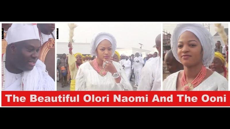 The Beautiful Olori Naomi Silekunola And The Ooni Of Ife At The Aje Festival