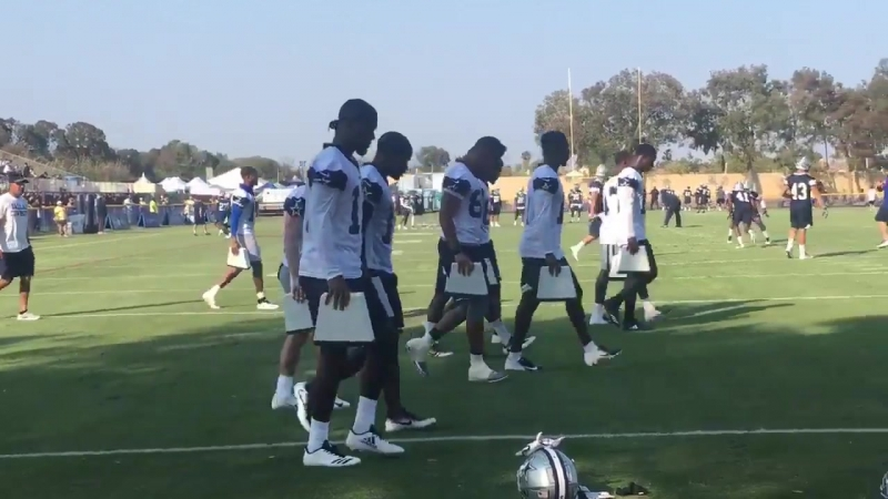 Something new for WRs CowboysCamp Day 2