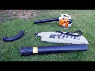 STIHL SH56C Conversion from Blower to Vac Shredder, Plus Demonstration