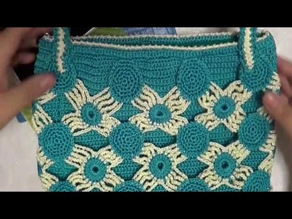 鉤針編織包包 清新拼花包