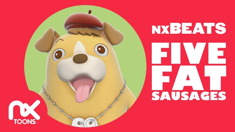 Five Fat Sausages   Songs For Kids With Lyrics   Nursery Rhymes   nxBEATS video