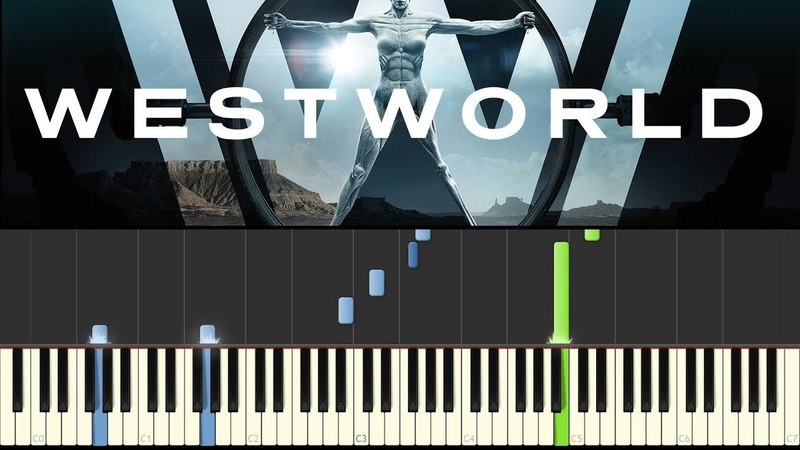 WestWorld (Piano Tutorial - Synthesia) - Dr. Ford Theme ( НОТЫ)