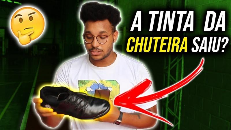 TESTE DA CHUTEIRA PRETA QUE EU CUSTOMIZEI! (Será que a tinta aguentou) | CHUTEIRAS 2019