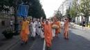 Harinama with H.H. Dhanurdhara Swami and Ananda Vardhana Swami! Great time in Vilnius.