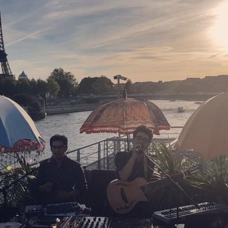 "Leisure Tip on Instagram: ""@samsaratribe event at @monsieurmoucheparis 🥁☀️🧞♂️ . thds live samsara tribe paris events sunset acoustic mult..."