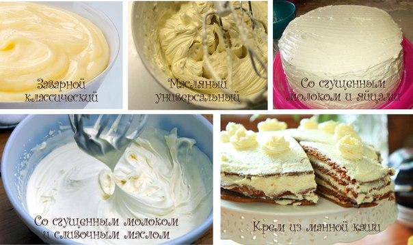 Кремы для тортов