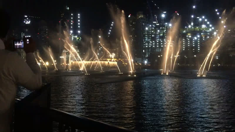 Dubai fountain - dubai mall , burj khalifa
