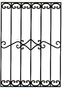 Кованая решетка артикул №09 чертеж изготовление по размерам на заказ