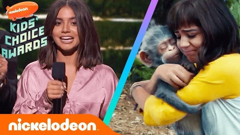 Isabela Moner Cast Present NEW Dora the Explorer Movie Trailer | Kids' Choice Awards 2019