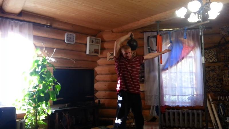 Жим Кляйна с 16 кг На трицепс