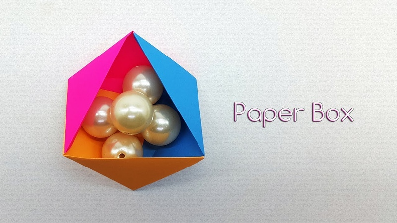 Triangle Paper Gift Box - How to make a Paper Box