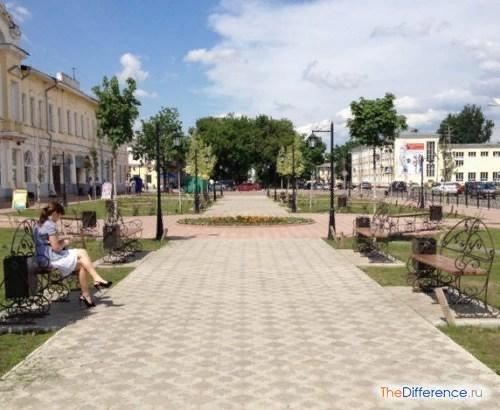 Разница между парком и сквером