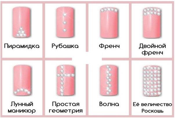 Схемы украшения ногтей