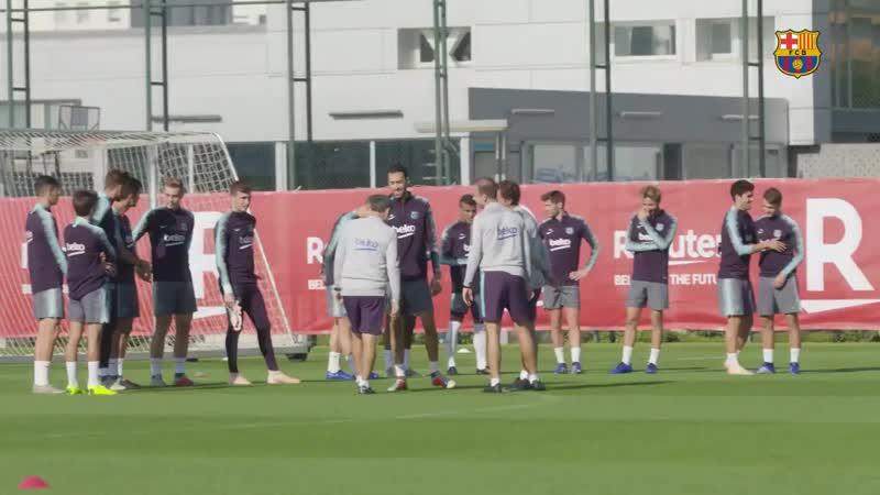 Тренировка Барселоны   17.10.2018