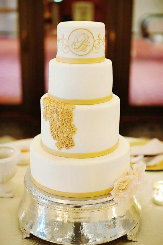 fQzXLzXWUrI - Золотые и серебряные свадебные торты 2016 (70 фото)
