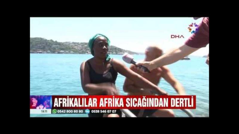 İstanbul'da 45 dereceyi gören sıcaklığa Afrikalılar bile dayanamadı