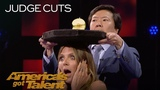 Aaron Crow Dangerously Shoots Apple Off Heidi Klum's Head - America's Got Talent 2018