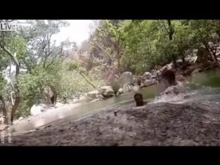 Трое индусов сняли собственную гибель в реке на видео