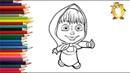 Раскраска для детей ГЕРОИ МУЛЬТИКОВ Маша и медведь, три кота, мой маленький пони
