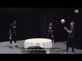 Эмбиид и Стив Нэш сыграли в смесь футбол и тенниса