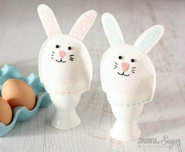 Милые фетровые чехольчики для пасхальных яиц…. (6 фото) - картинка