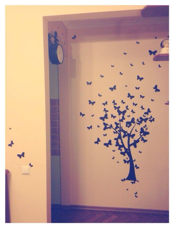 фото наклейка дерево из бабочек отзыв клиентов