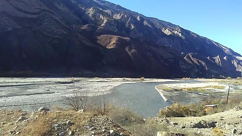 1 Река Андийское Койсу за селом Ортаколо, ноябрь 2018 | дорога Махачкала-Ботлих, Дагестан