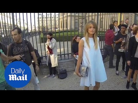 Cressida Bonas wows the crowd at the Dior show - Daily Mail