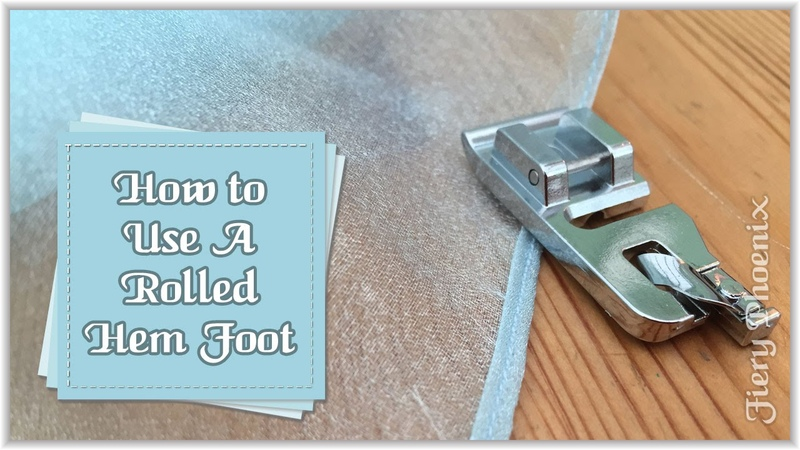 How to Use a Rolled Hem Presser Foot :: by Babs at Fiery Phoenix