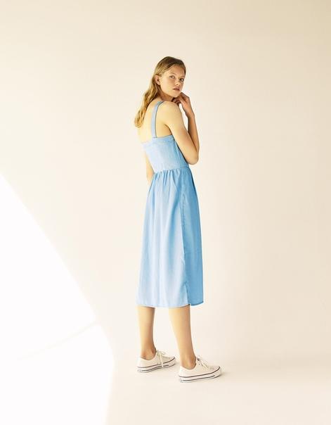 Платье из лиоцелла с пуговицами