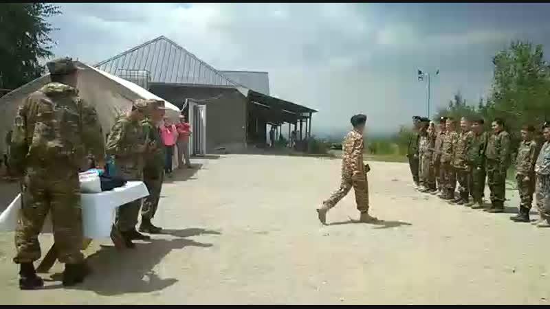 военно патриотический лагерь Жас Жауынгер