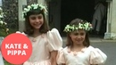 Unseen footage shows a young Kate and Pippa as beaming bridesmaids