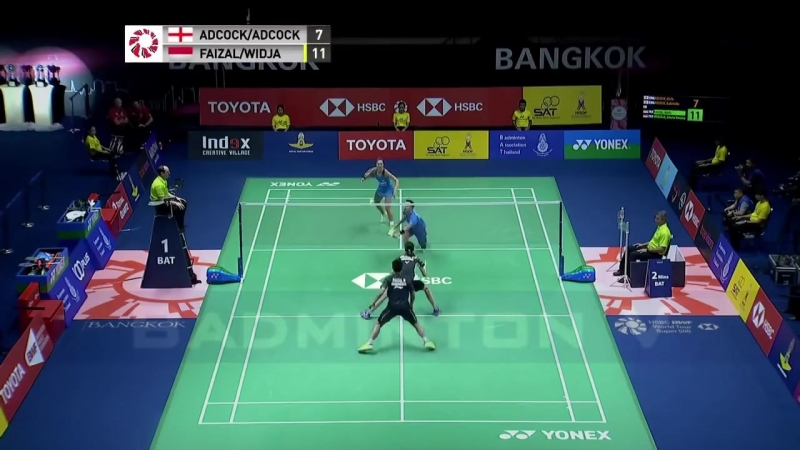 2018 Thailand Open Final H.Faizal and G.Emanuelle Widjaja vs Ch.and G. Adcock