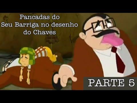 Todas as pancadas que deram no Seu Barriga no desenho animado do Chaves 5