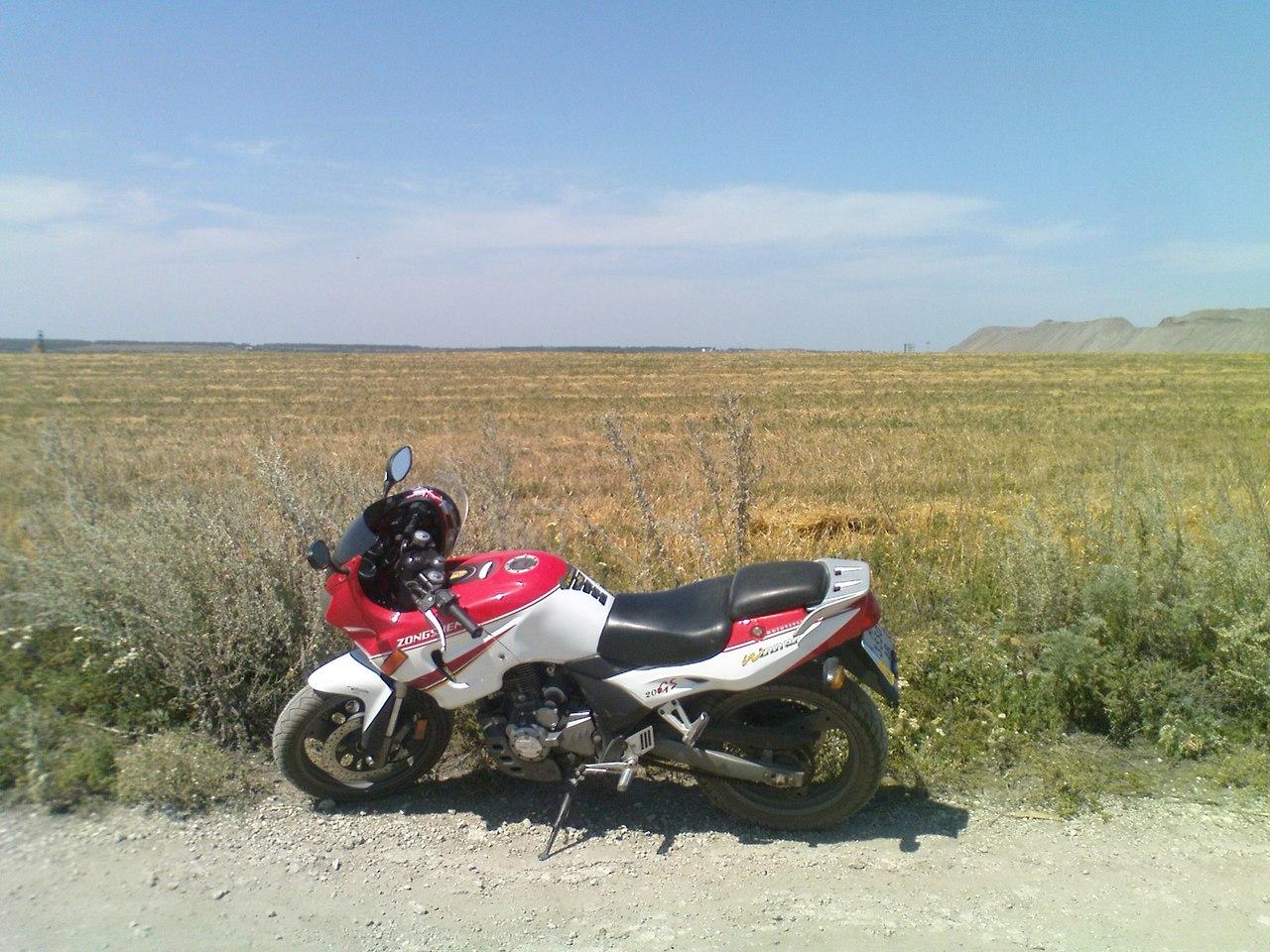 первое знакомство с мотоциклом