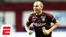 Barcelona Legend Andres Iniesta Scores Stunning First Goal In Japan