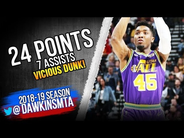 Donovan Mitchell Full Highlights 2018.11.07 Jazz vs Mavs - 23 Pts, ViCOUS DUNK! | FreeDawkins